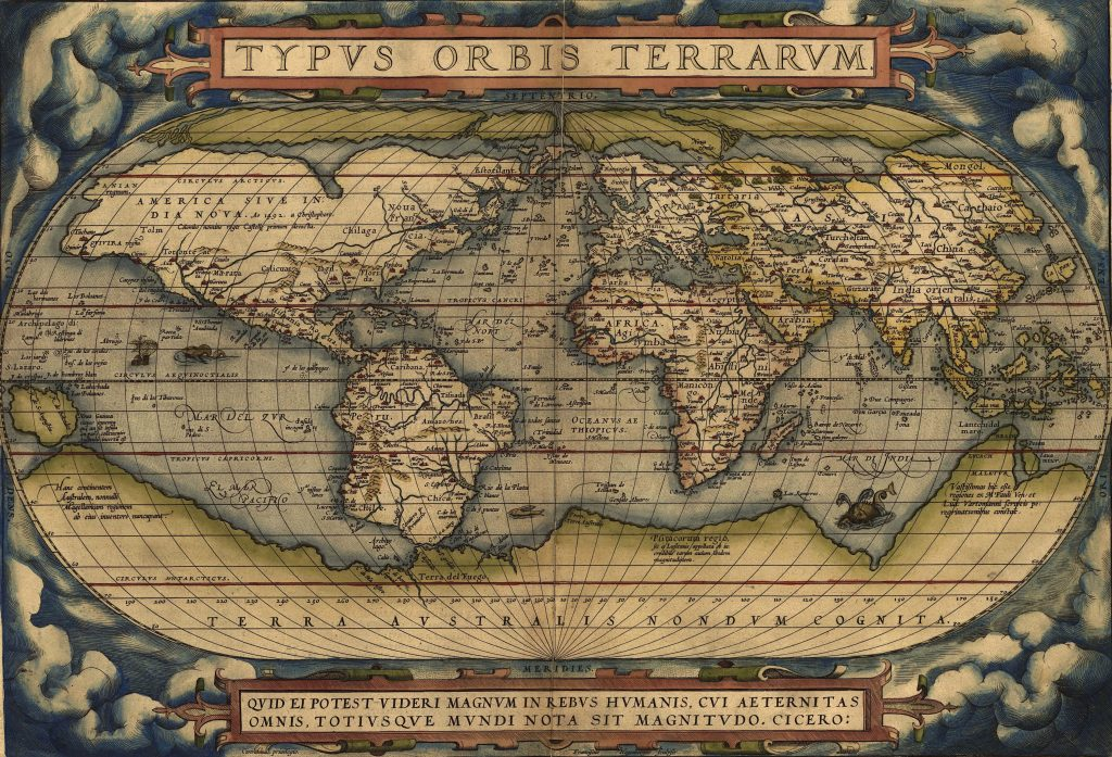 Ortelius wereldkaart